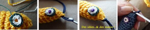 Tuto oeil poisson crochet