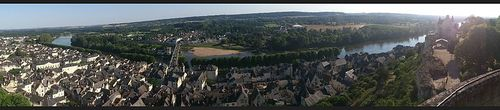 Chinon ville-from tower-château