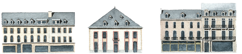 Eléments architecturaux allées étigny
