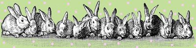 free vintage digital stamp many easter bunnies