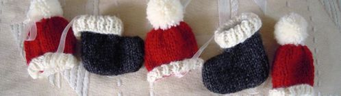 Decoration de noel a faire au tricot