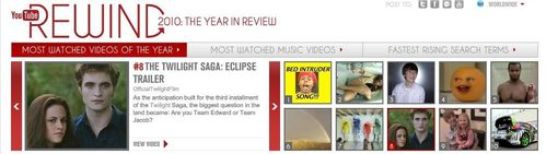Youtube Top 10 - Eclipse 8th rank