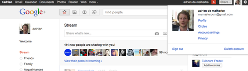 How to allow multiple account on google plus and gmail