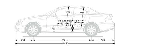 clk-cabriolet technicaldata dimensions side 715x230 12-2007