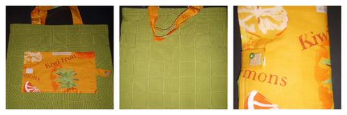 sac à courses vert & orange