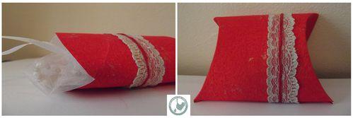boite cadeau berlingot rouge