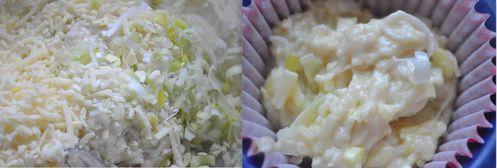 muffins au poireau et fromage