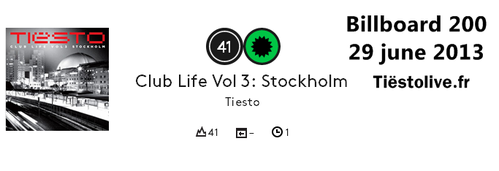 Tiësto club life 3 Billboard 200