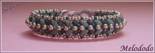Bracelet Scaer Turquoise et Sapphire Picasso
