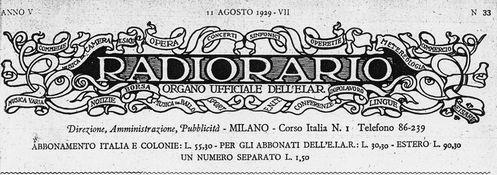 Radiorario 1929