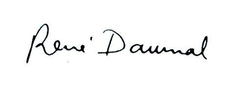 Signature René Daumal