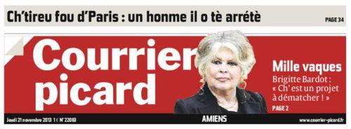 Le Courrier Picard en Ch'ti - Brigitte Bardot (Blog Bagnaud