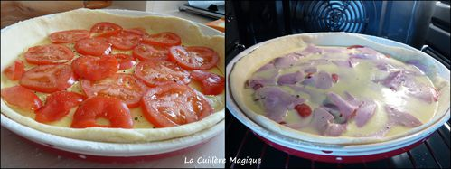 Quiche tomates moutarde jambon