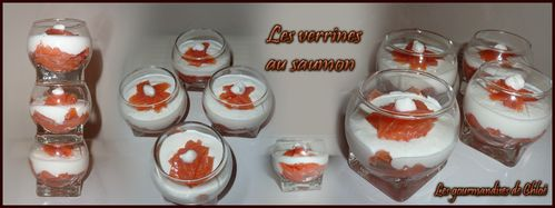 Verrines au saumon