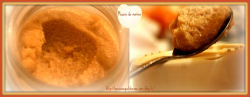 montage mousse de marron