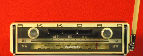autoradio AKKORD 1965 autotransistor 715 Transistor Car Portable Radio