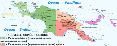 New guinea provinces