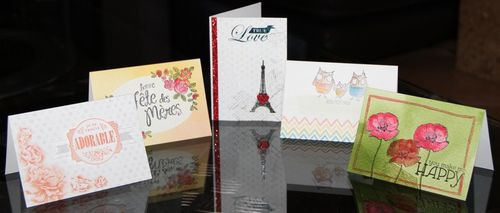 cartes design douces esquise