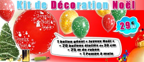 kit decoration ballon noel