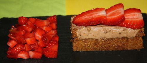 Biscuit, mousse au Nutella et fraises 3