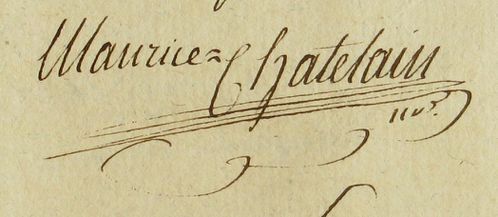 Not CHATELAIN M 2E6688 Signature