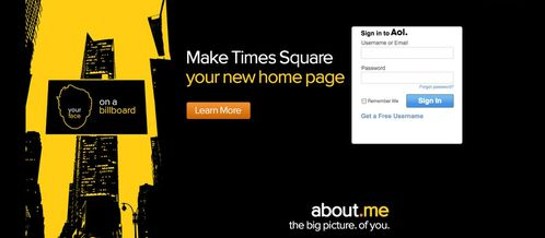 Make your Home Page on Times Square