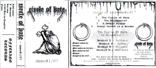 Circle of hate - Front cover