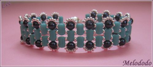 Bracelet Lee Turquoise Green et Night Blue