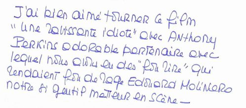 Anthony Perkins vu par Bardot (Blog Bagnaud)