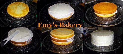 lemon layer cake glacage