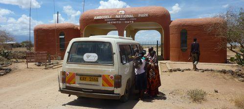 entrée parc Amboseli
