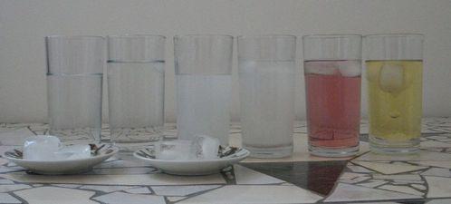 fonte eau douce eau salée 6 verres début