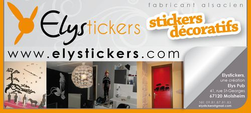 vos stickers d coratifs sont sur elystickers elys pub. Black Bedroom Furniture Sets. Home Design Ideas