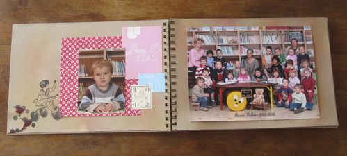 Scrapbooking : Album des photos de classe