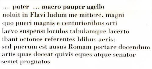 637g3 Venosa, enfance d'Horace