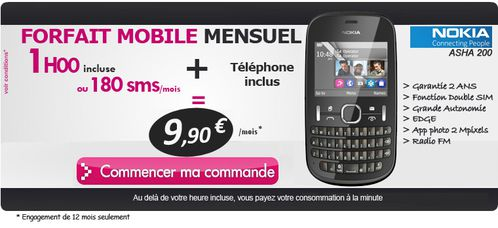 nouveau nokia asha 200 azerty avec forfait pas cher le blog bon plan mobile bon plan. Black Bedroom Furniture Sets. Home Design Ideas