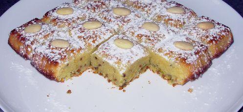 Fondant chocolat blanc, amandes, pistache3