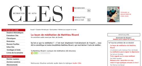 Entretien Audio Mathieu ricard