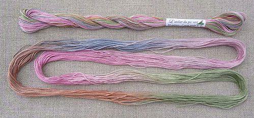 fil perlé fleurs de prairie