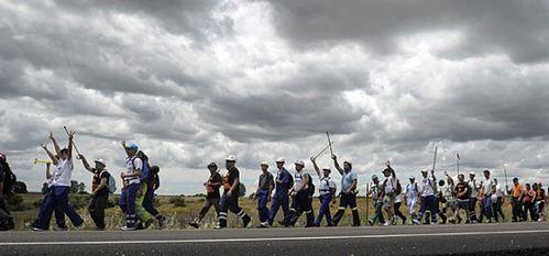 Marche des Mineurs passant par Leon