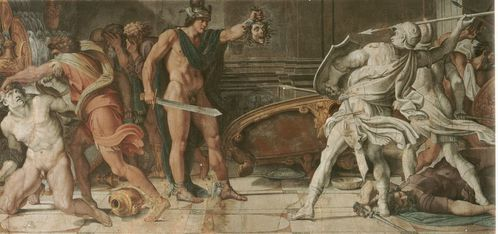 Annibale Carracci and Domenichino - Perseus and Phineas 01
