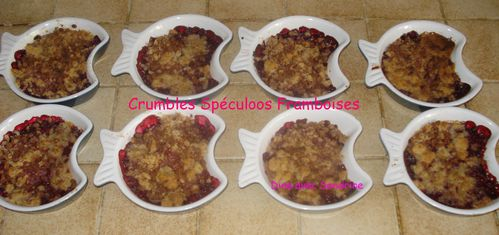 Crumble Spéculoos Framboises 8