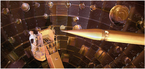fusion laser inside chamber