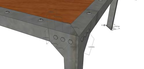 Projet modélisé TABLE BASSE RB