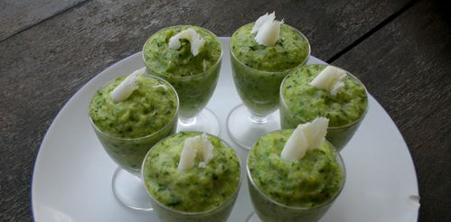 mousse de courgettes