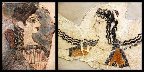 740h3 Cnossos, 'la Parisienne' et déesse en épiphanie (14
