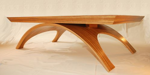 Table Basse Contemporaine Zebrano Atelier Pourquoi Pas Mobilier