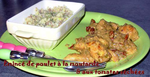 Emincé de poulet à la moutarde et aux tomates séchées2