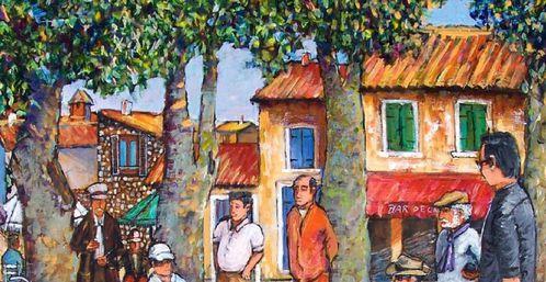 Peinture Acrylique La Partie De Pétanque 6 Le Blog De