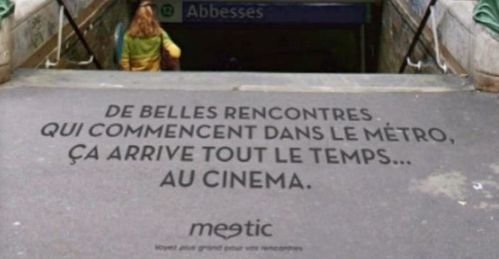 affiche meetic métro